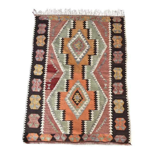 1930s Vintage Turkish Anatolian Kilim Rug For Sale
