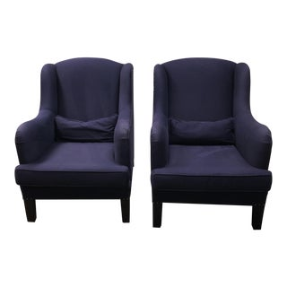 Pottery Barn Nottingham Wing Back Chairs - a Pair