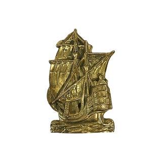 Brass Ship Door Knocker For Sale