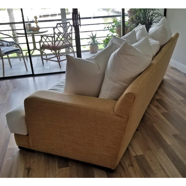 Resort Style Modern Oversized White & Sand Sofa and Chair - Set of 2 For Sale In West Palm - Image 6 of 13