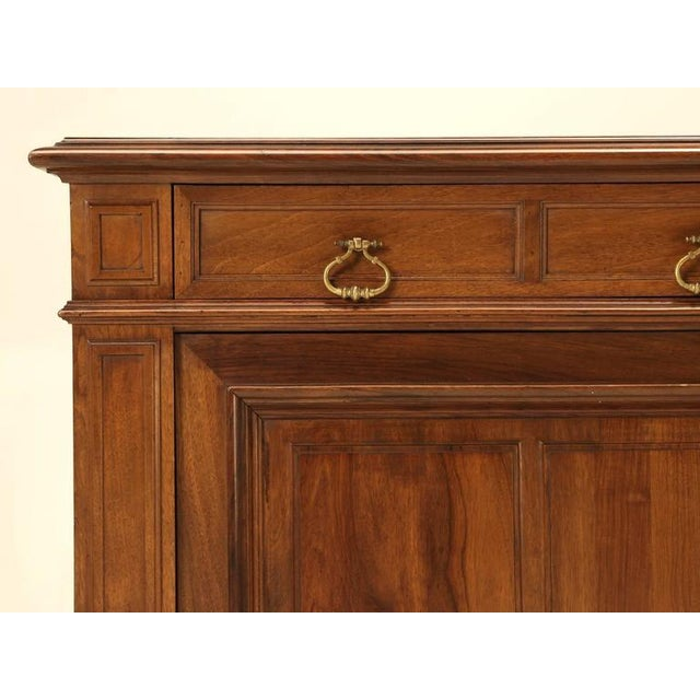 French Walnut Buffet For Sale In Chicago - Image 6 of 10