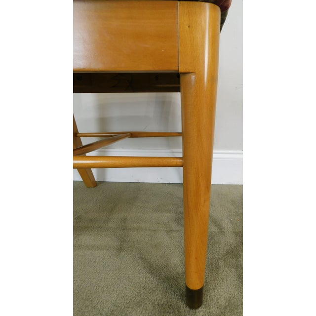 "Milo Baughman for Drexel ""New Today's Living"" Mid Century Modern Set 6 Blonde Dining Chairs For Sale - Image 12 of 13"