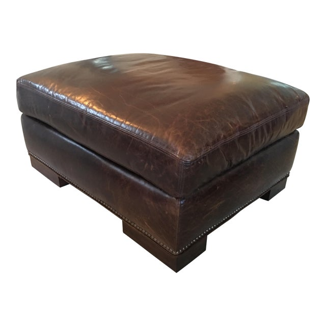 Outstanding Lexington Studded Leather Ottoman Pdpeps Interior Chair Design Pdpepsorg
