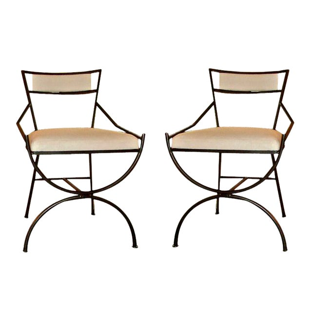 Pair of Mid Century Iron Chairs - Image 1 of 8