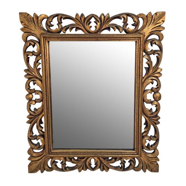 Italian Carved Wood & Gilt Mirror - Image 1 of 7