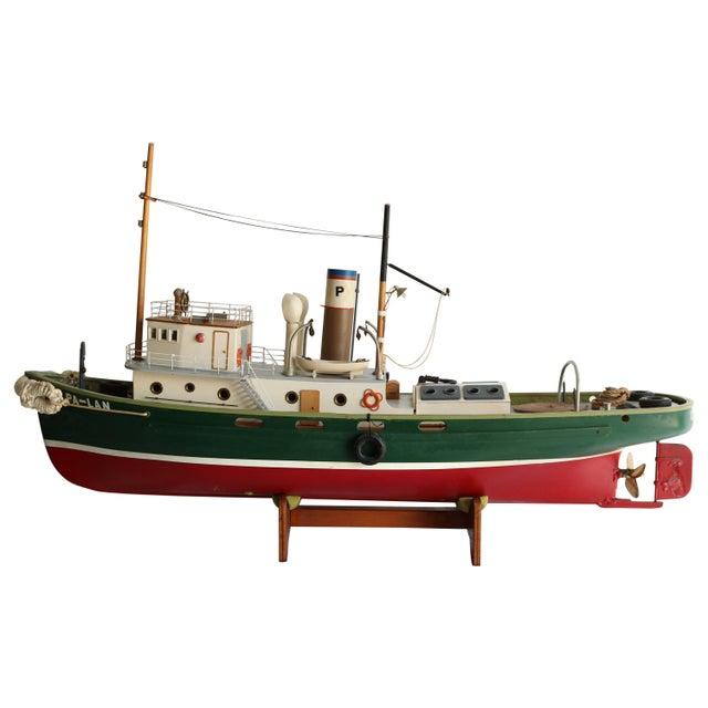 "1950s Artisan Carved Wood Boat Pa-Lan ""Cincinnati"" For Sale - Image 10 of 10"