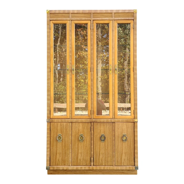 Vintage Drexel 1pc Breakfront China Cabinet For Sale