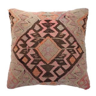 Pink and Orange Kilim Pillow For Sale
