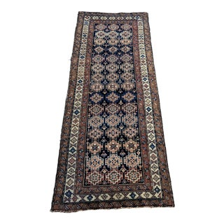 "Antique Caucasian Runner - 3'5""x8'10"" For Sale"