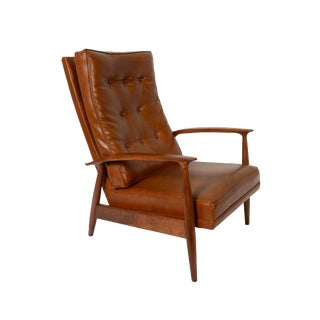 1960s Vintage Thayer Coggin for Milo Baughman Lounge Chair Recliner For Sale