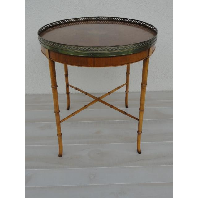 20th Century Chinoiserie Holland Salley Baker Furniture End Table For Sale In Tampa - Image 6 of 13