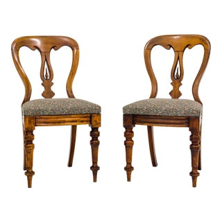 Pair of Victorian Side Chairs C. 1860 For Sale