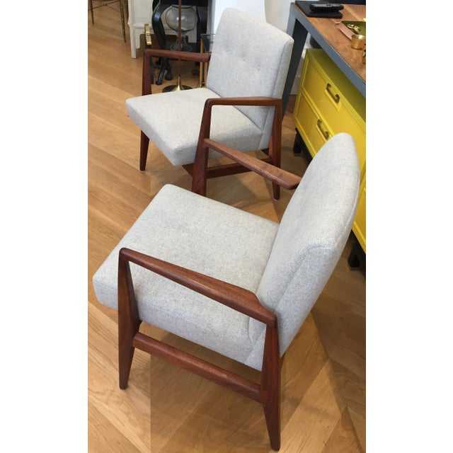 1960s Vintage Mid Century Jens Risom Lounge Chairs- a Pair For Sale - Image 5 of 12
