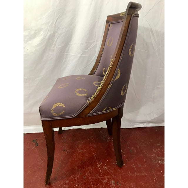 French Empire Side Chairs, a Pair For Sale - Image 4 of 12