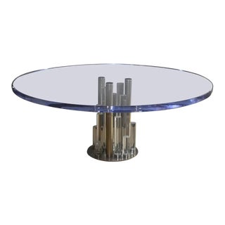 """Large Charles Hollis Jones """"Post Line"""" Dining Table Signed For Sale"""