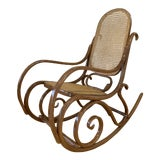 Image of 1970s Vintage Thonet Bentwood Rocking Chair For Sale