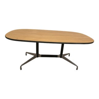 1970s Mid-Century Modern Herman Miller Aluminum Oval Conference Table