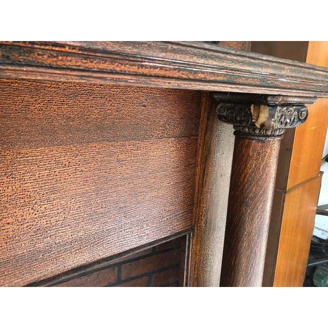 Early 20th Century Early 20th Century Fireplace Surround Mantel For Sale - Image 5 of 13