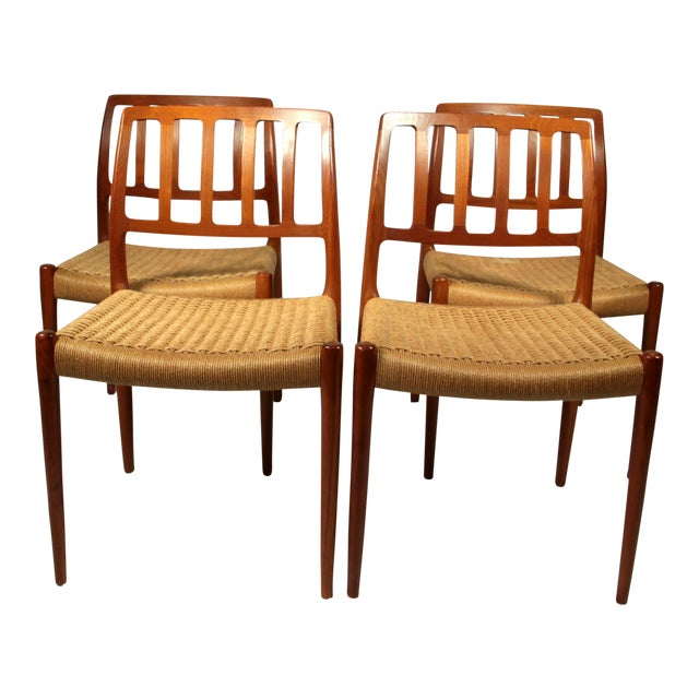 Niels Moller Danish Modern Model No. 83 Teak Dining Chairs - Set of 4 For Sale