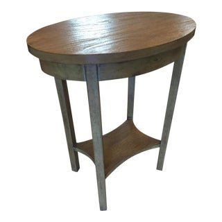 Small Oval Side Table With Lower Shelf