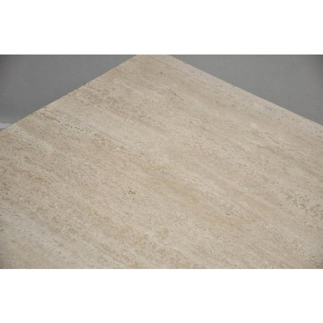 Travertine Coffee Table For Sale In Chicago - Image 6 of 7