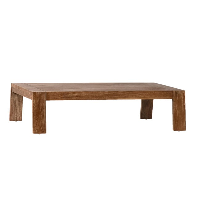 Modern Outdoor Teak Coffee Table For Sale - Image 3 of 3
