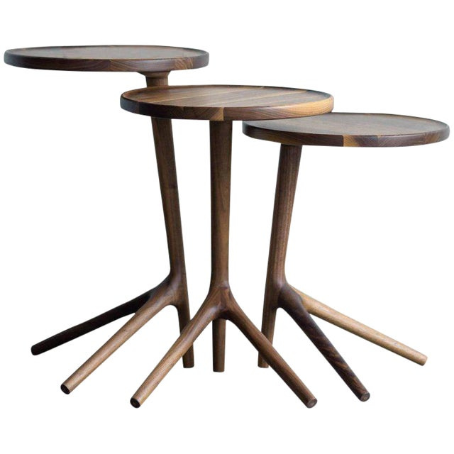 Tripod Nesting End Tables - Set of 3 For Sale