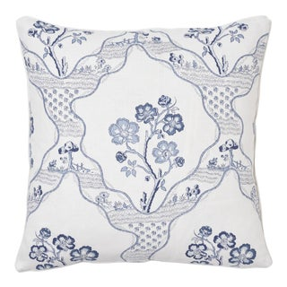 Schumacher Marella Pillow in Delft For Sale