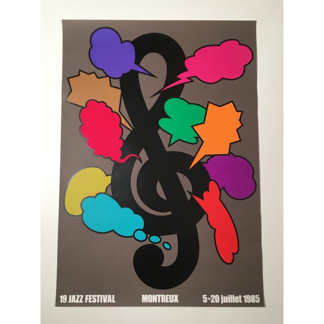 Montreux Jazz Festival Poster by Shigeo Fukuda For Sale In Boston - Image 6 of 10