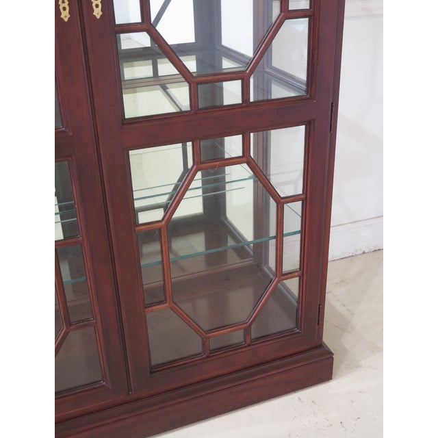 Lineage Chippendale Style Cherry 2 Door Curio Cabinet For Sale - Image 4 of 11