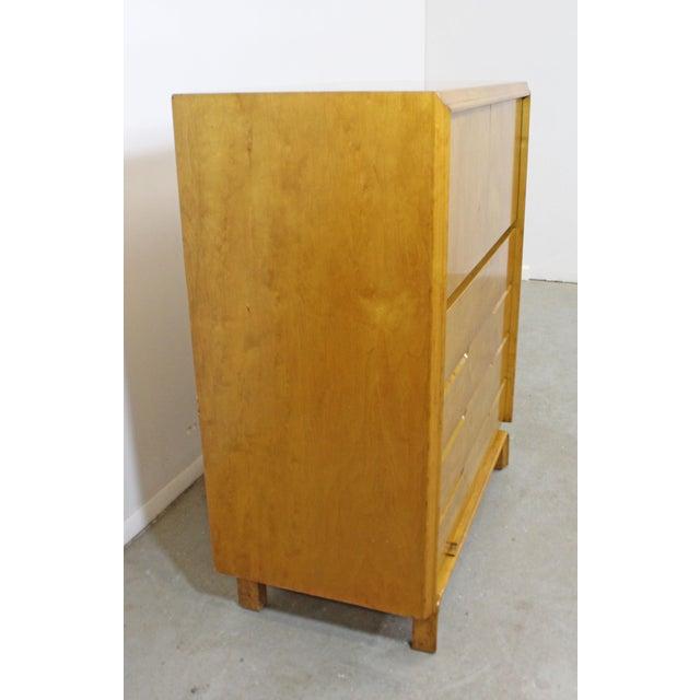 Edmond J. Spence Mid-Century Modern Edmond Spence Tall Chest Dresser For Sale - Image 4 of 13