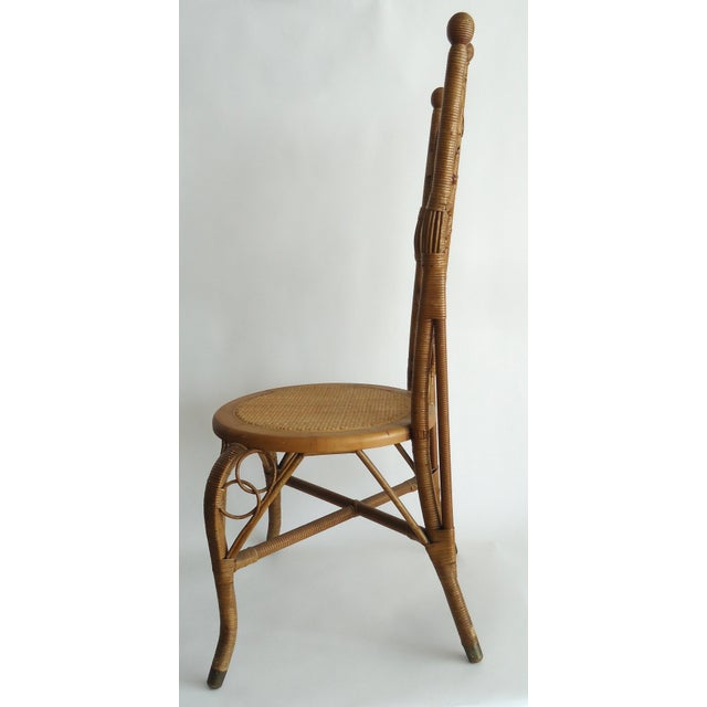 Country Late 19th Century Vintage Heywood Wakefield Victorian Wicker Photographer's Chair For Sale - Image 3 of 12