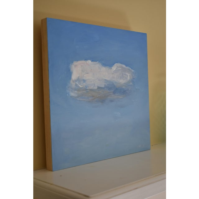 Wood Small Cloud Study Hover Contemporary Painting by Stephen Remick For Sale - Image 7 of 8