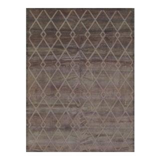Modern Tibetan Wool Rug - 9' X 12' For Sale