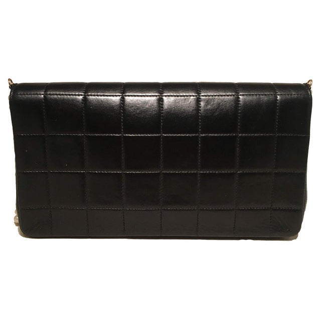 258978dc26176a Contemporary Chanel Black Leather Square Quilted Pearl Chain Classic Flap  Shoulder Bag For Sale - Image