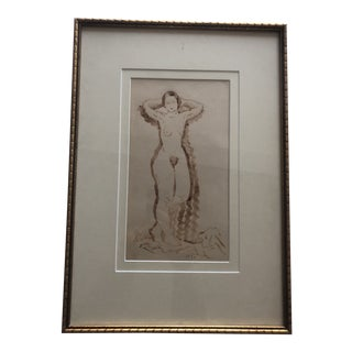 1930s Vintage Female Nude Painting For Sale