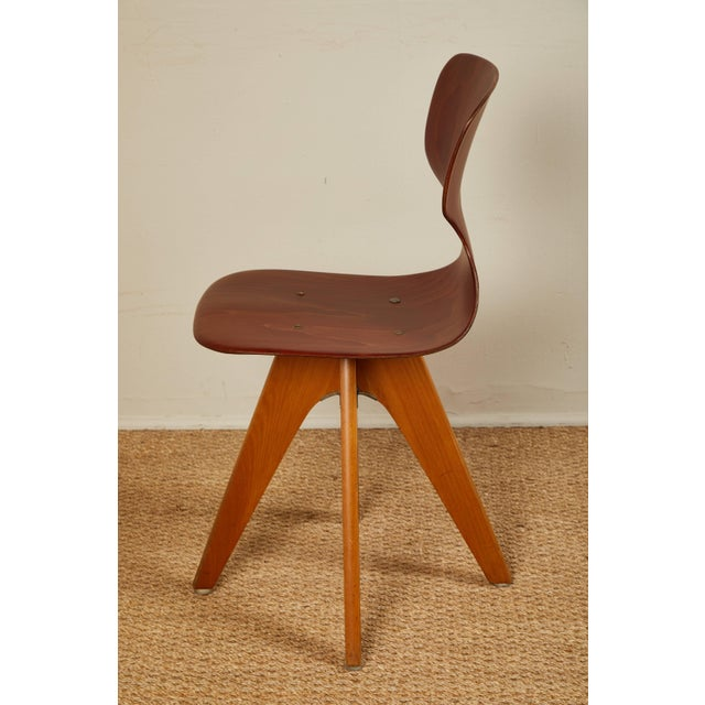 Mid-Century German School Chairs - Set of 6 For Sale - Image 10 of 13