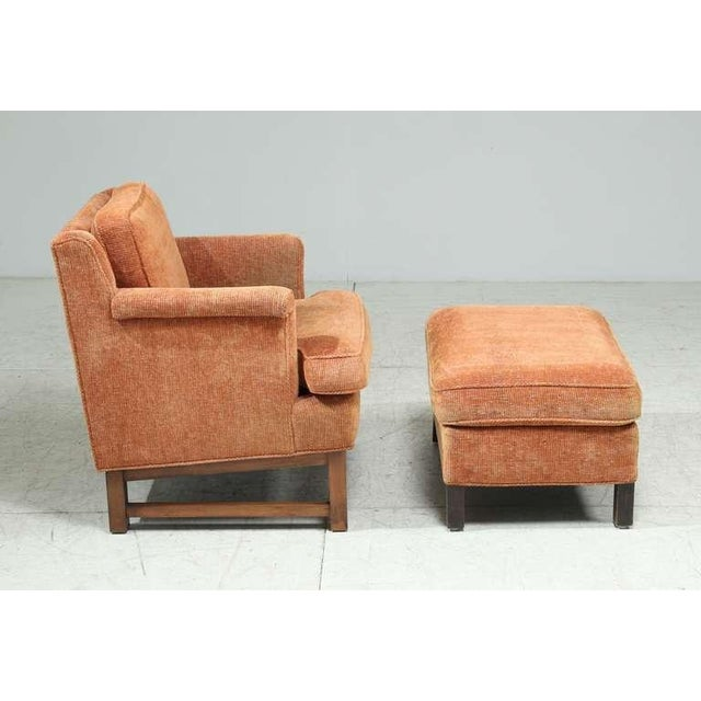 Edward Wormley Lounge Chair with Ottoman For Sale - Image 6 of 9