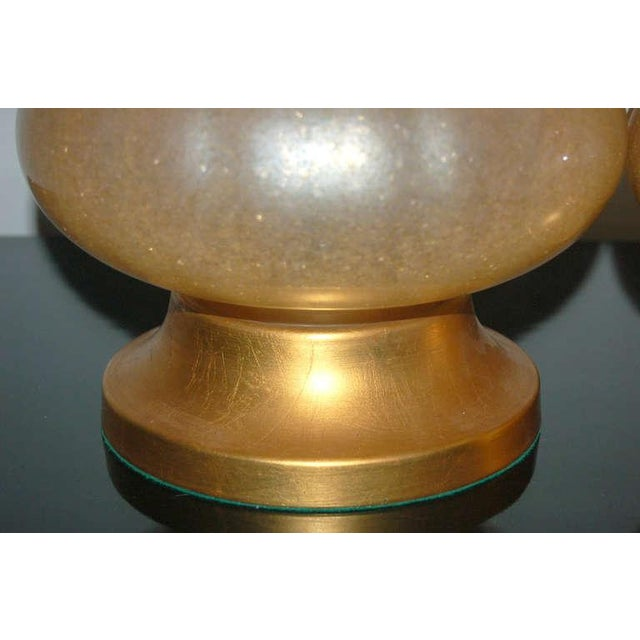 Vintage Murano Glass Eglomise Table Lamps in Gold For Sale - Image 10 of 10
