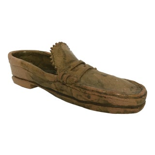 Pottery Loafer Sculpture For Sale