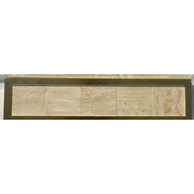Post Modernist 1980's Travertine Mirror - Image 10 of 11