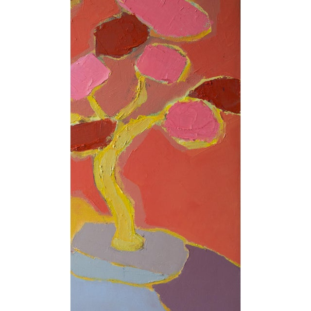 """Bill Tansey """"Blossom"""" Abstarct Floral Oil Painting on Canvas For Sale - Image 4 of 4"""