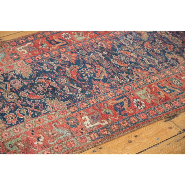 "Antique Kurdish Bidjar Rug Runner - 3'7"" X 13'10"" - Image 2 of 7"
