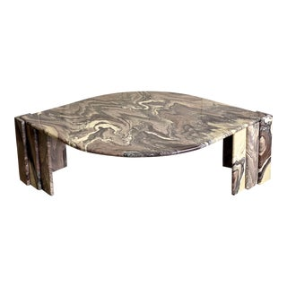 1970s Italian Sculptural Marble Coffee Table For Sale