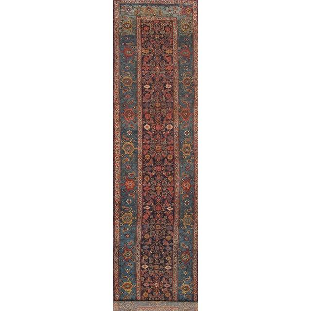 "English 21st Century Pasargad Home Bidjar Lamb's Wool Runner- 3'11"" X 15'11"" For Sale - Image 3 of 3"