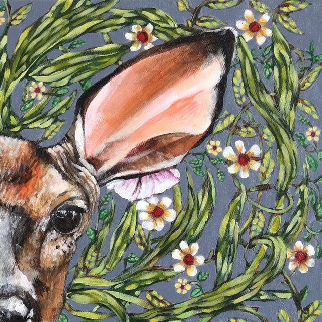 "Abstract ""Deer"" Original Artwork by Naomi Jones For Sale - Image 3 of 9"