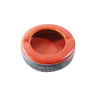 MCM Bitossi Era Raymor Italian Ashtray Ceramic Red