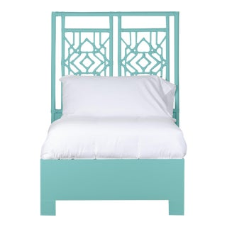 Tulum Bed Twin Extra Long - Turquoise For Sale