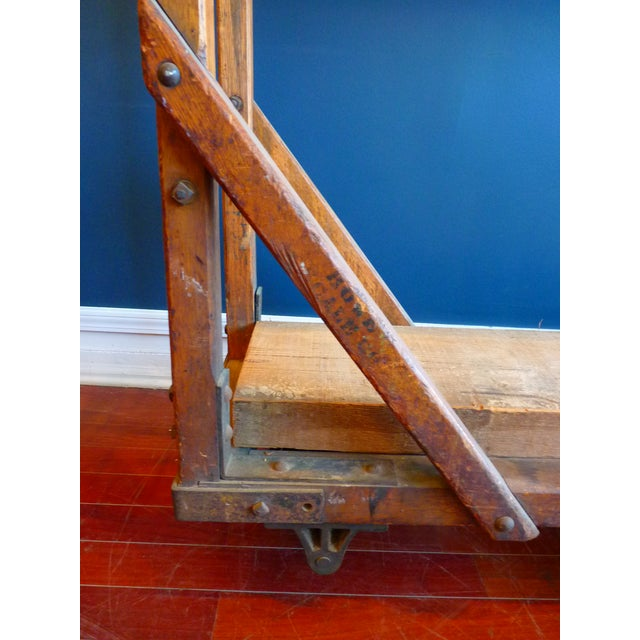 Vintage Industrial Trolly Cart as Open Shelving For Sale - Image 12 of 13