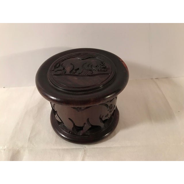 Beautiful hand carved coaster set. Includes six coasters and a storage box with top. All have rhinosaurus carved into the...